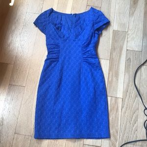 Adrianna Papell Royal Blue Textured Dress